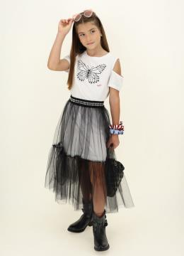 ABITO T SHIRT GONNA TULLE